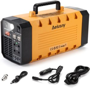 Aeiusny Solar Powered Rechargeable Battery