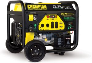 Champion Power Equipment 7500 Dual Fuel Portable Generator with Electric Start