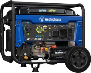 Westinghouse WGen3600DF Dual Fuel (Gas and Propane) Electric Start Portable Generator