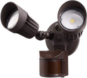 Leonlite Dual-Head Motion-Activated Outdoor Security Light