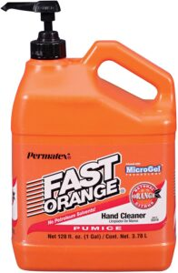 Permatex 25219 Fast Orange Pumice Lotion Hand Cleaner with Pump