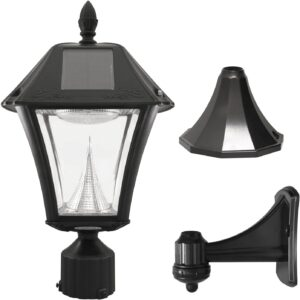 Gama Sonic GS-105FPW-BW Baytown Solar Light