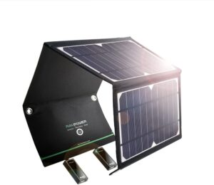 RAVPower Solar Charger 16W Solar Panel with Dual USB Port
