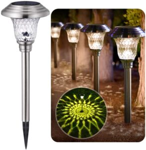 Solar Lights Bright Pathway Outdoor Garden